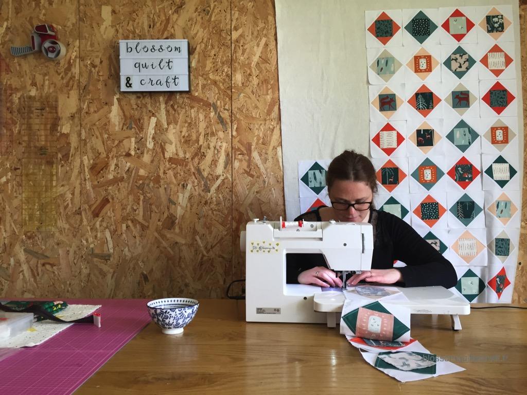 patchwork moderne travail à la chaine