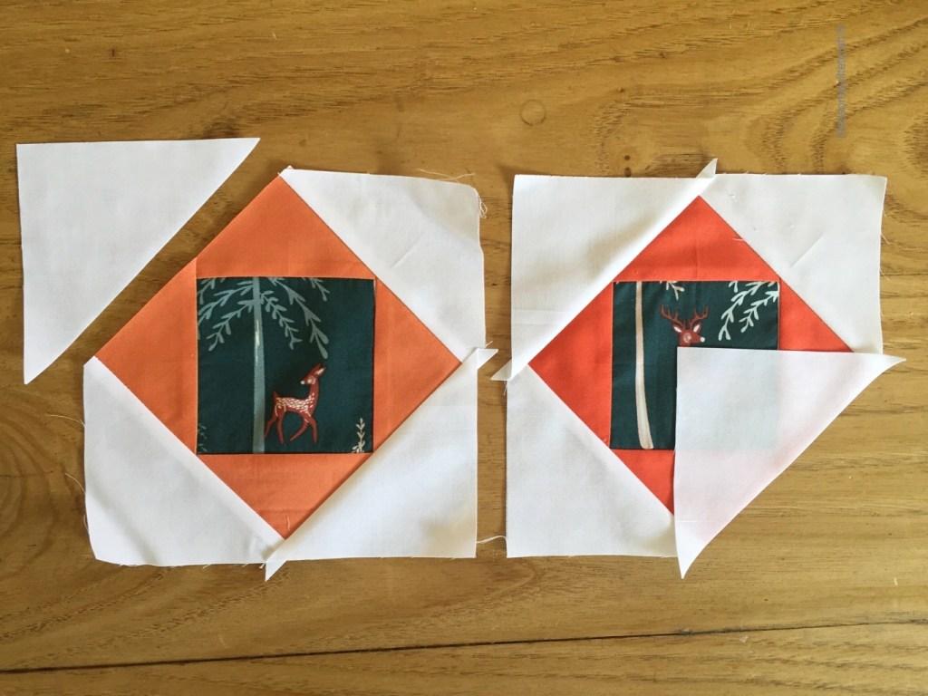 tutoriel patchwork moderne carré dans un carré