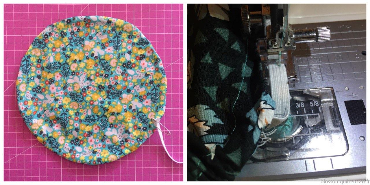 tuto couture couvercle alimentaire lavable avec élastique
