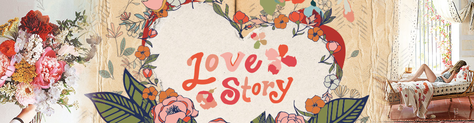 Love story tissu art gallery
