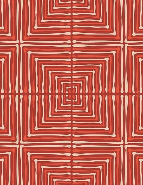 Art Gallery Fabrics LVS - Darling Echoes Red