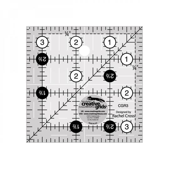 Creative grids 3½'' x 3½'' inches square ruller