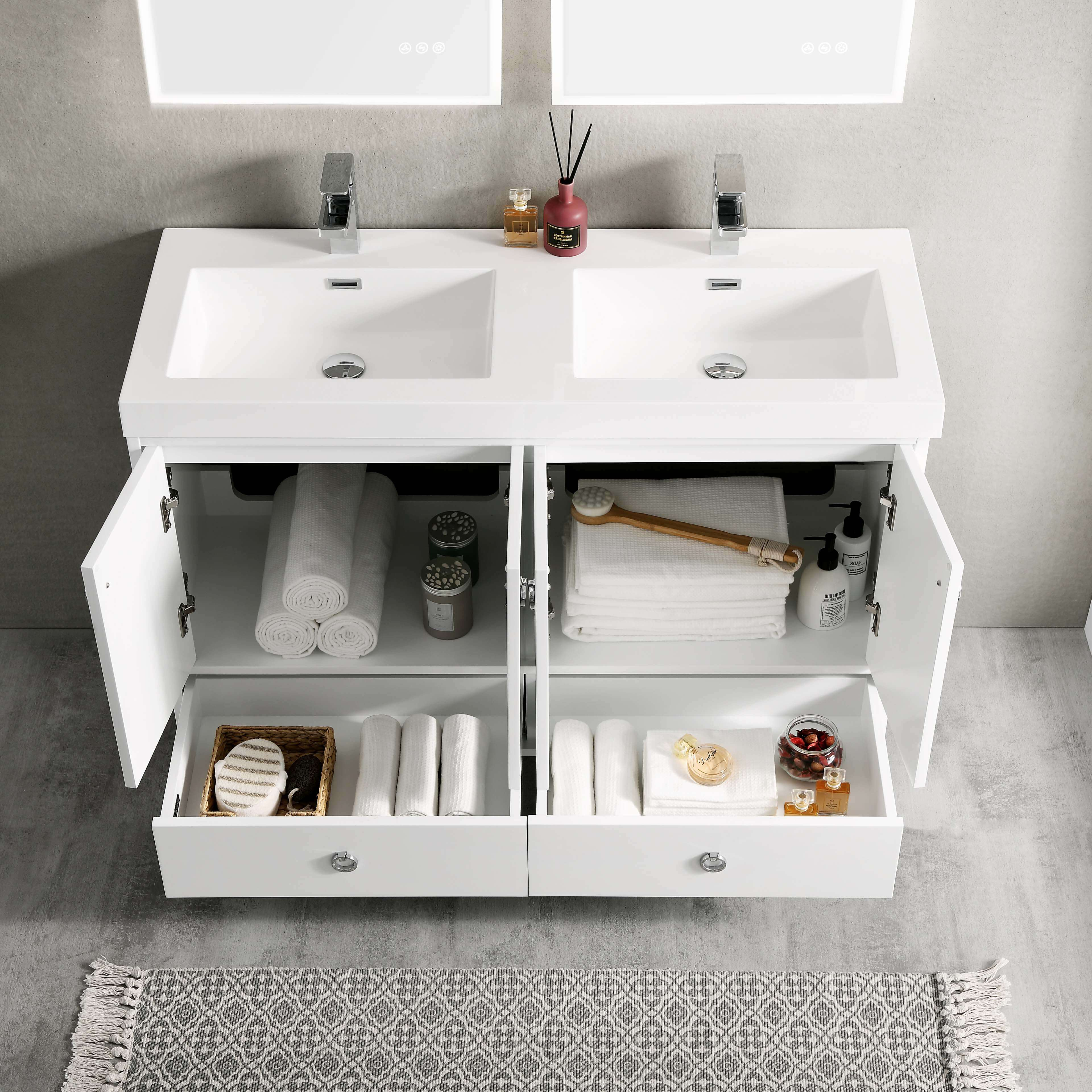 lyon 48 inch vanity double sinks