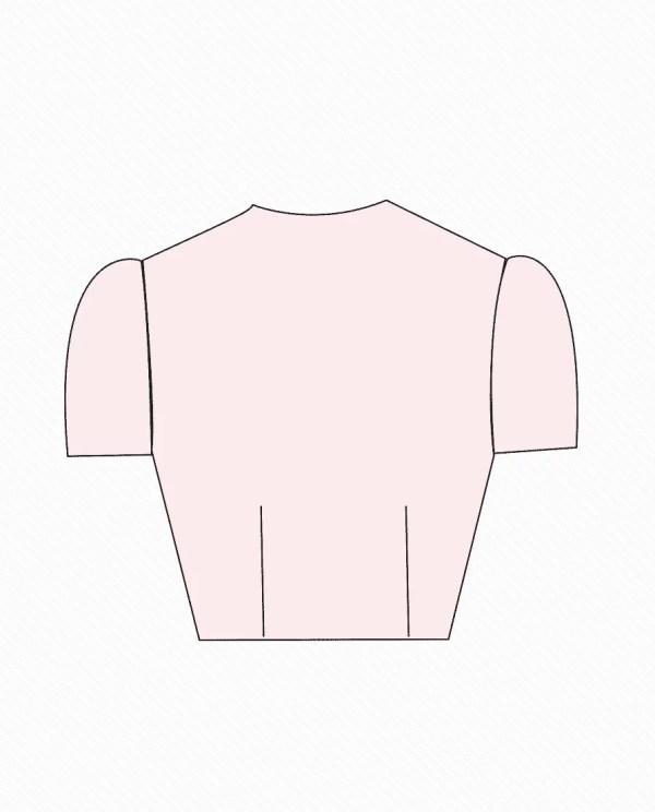 jewel neck front open design 1 back blouse guru