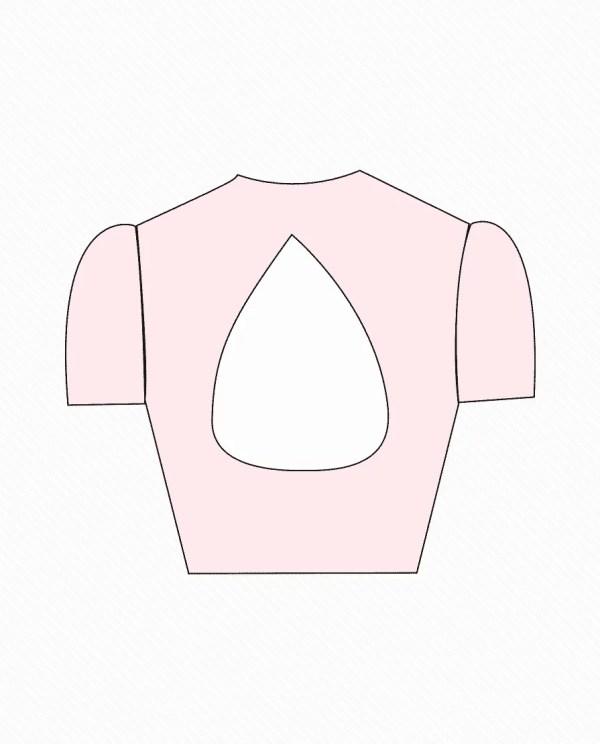 jewel neck front open design 4 back blouse guru