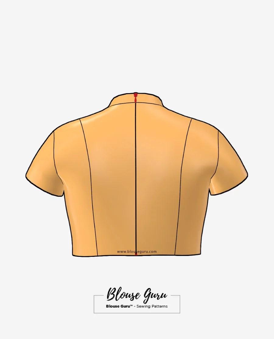 Blouse Guru Collar Neck Back Open Design 4 Back