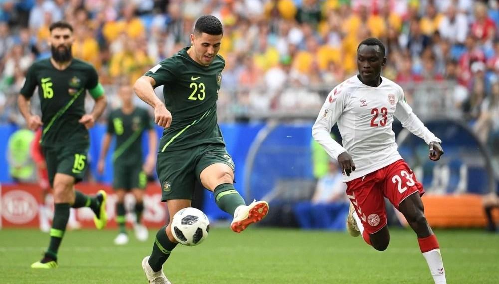 danemark australie 1-1