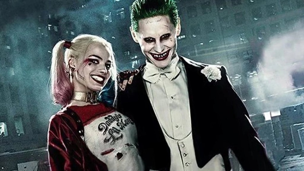 Harley Quinn et Joker. Interprété par Margot Robbie et Jared Leto dans Suicide Squad