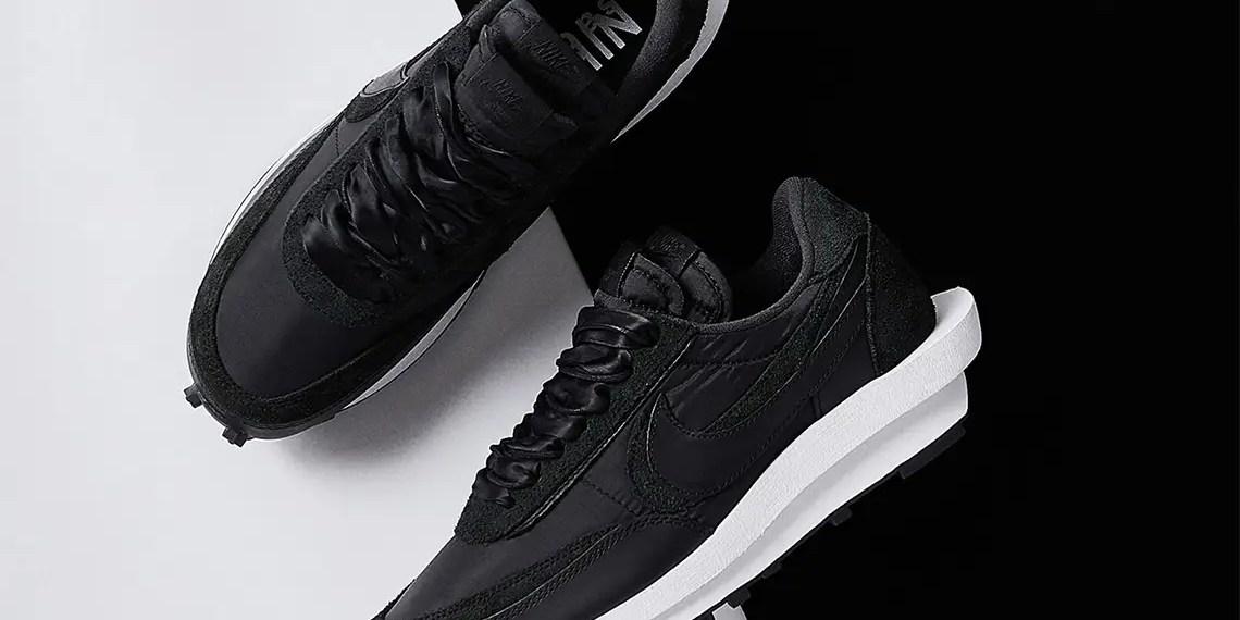 Où acheter la sacai x Nike LDWaffle Black Nylon ?