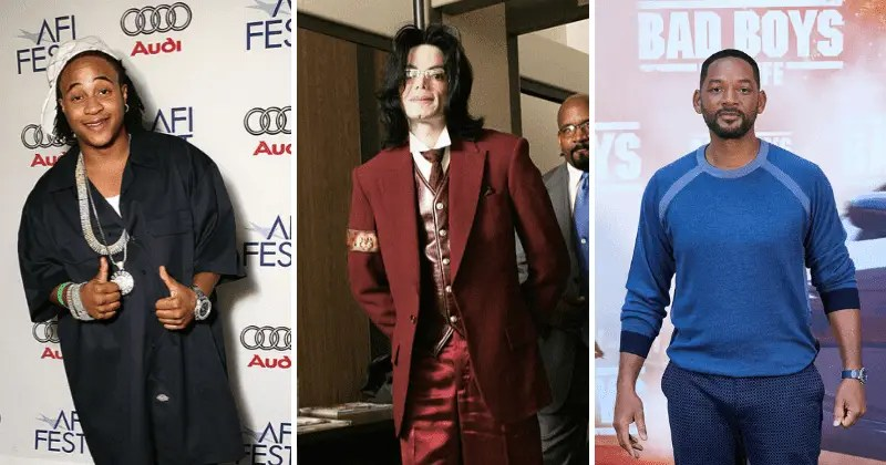 De gauche à droite : Orlando Brown, Michael Jackson et Will Smith