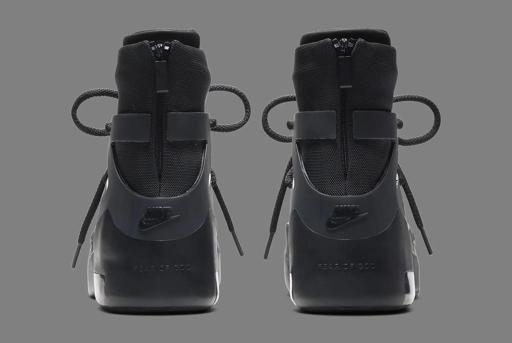 Nike Air Fear of God 1 Triple Black Back