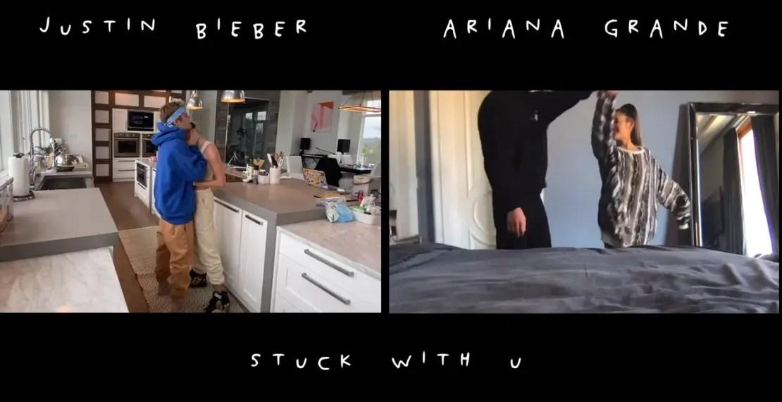 """Ariana Grande et Justin Bieber dévoilent le clip de """"Stuck With You"""""""