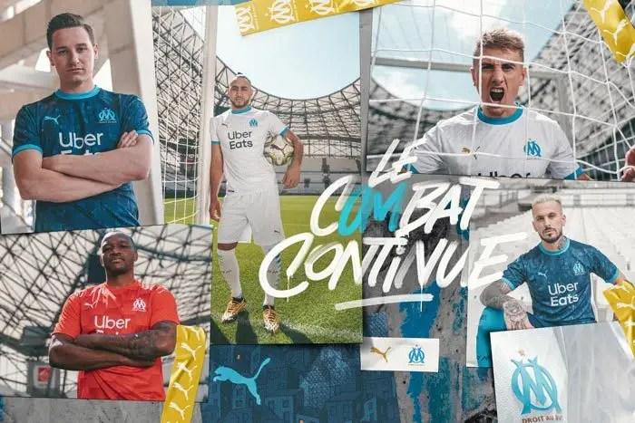 Les maillots de l'Olympique de Marseille de la saison 2020/21 dévoilés