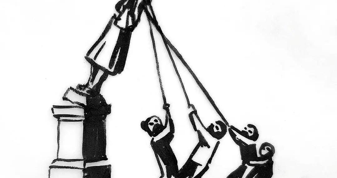 L'artiste Banksy présente une nouvelle version de la statue du marchand d'esclaves anglais