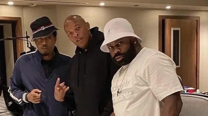 La collab entre Nas et Dr. Dre en images lors d'une session studio