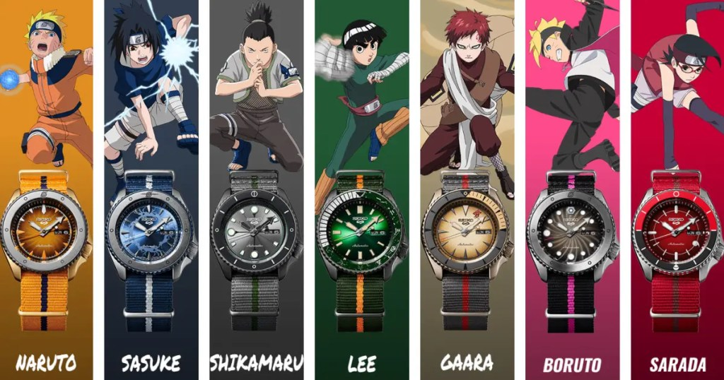 Seiko vous propose des montres Naruto et Boruto !