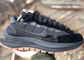 """Vaporwaffle """"Black / Gum"""" Sacai x Nike"""