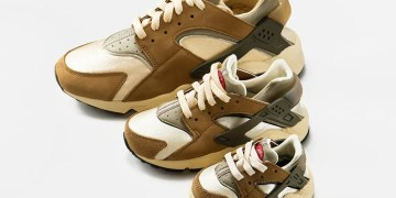 "Voici où acheter la Stussy x Nike Air Huarache LE "" Desert Oak """