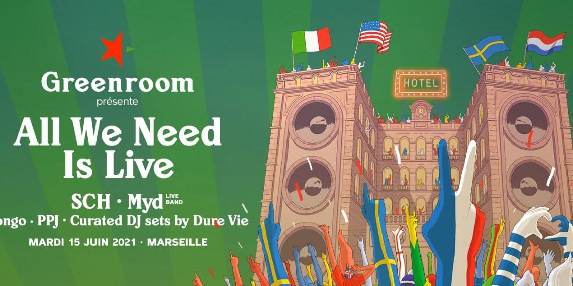 Greenroom présente un concert exclusif «All we Need is Live»