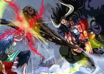 Lire le Chapitre / Scan 1017 de One Piece : Un combat entre Yamato et Kaido.