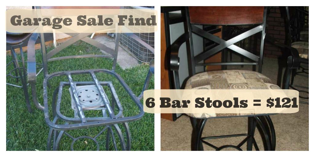 Six Bar Stools on the Cheap – Final Cost $121
