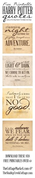 Free Harry Potter Printable at TheShabbyCreekCottage.com