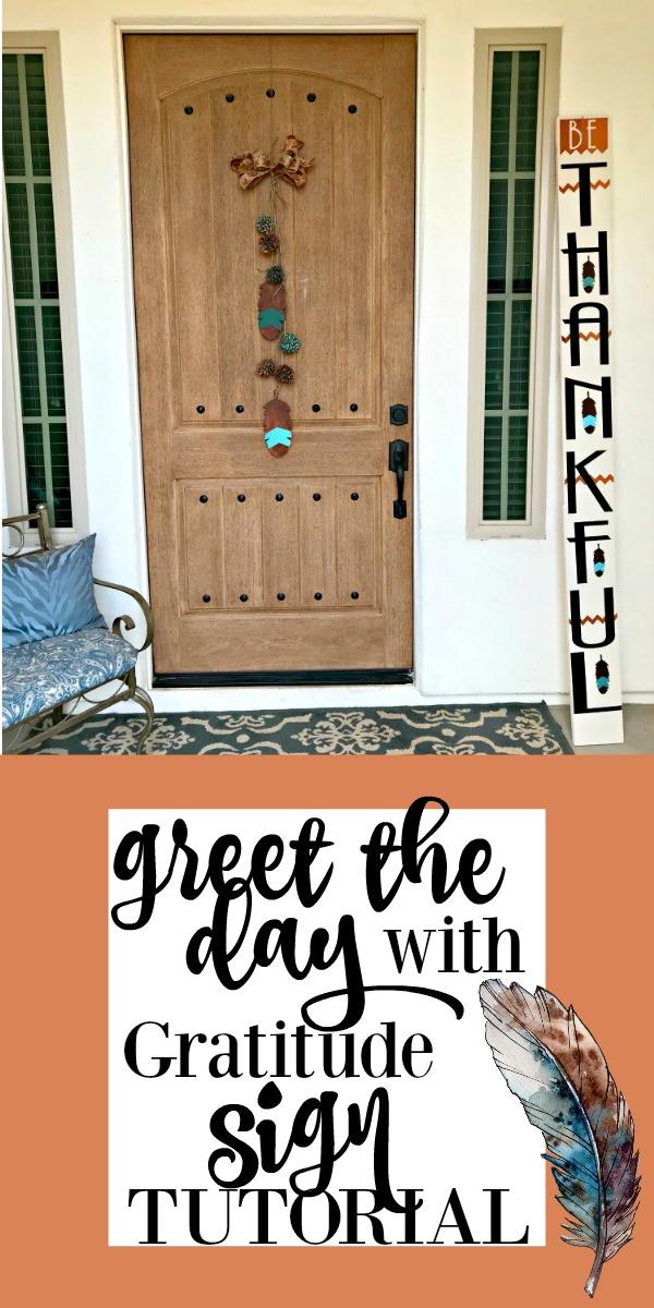 Be Thankful Door Sign
