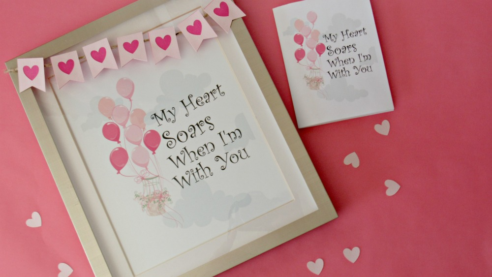 Valentine's Day Free Printable: My Heart Soars When I'm With You