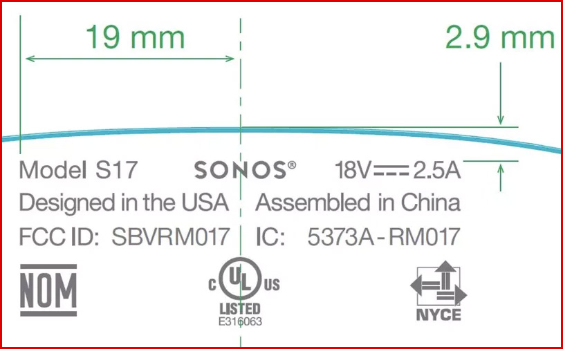 Sonos Portable Speaker Dimensions