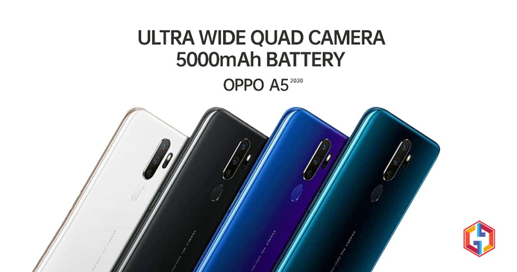 Oppo A5 2020 With Quad Cameras 5000mAh Battery