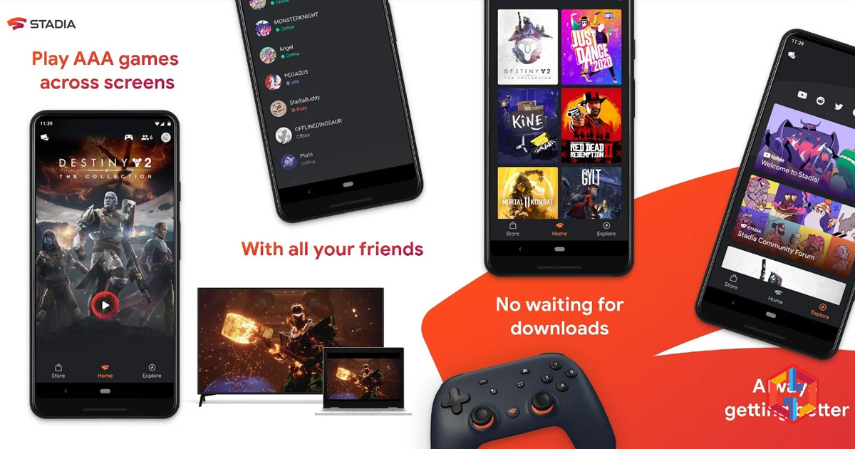Google Stadia now available on the Play Store