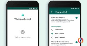 WhatsApp fingerprint lock feature