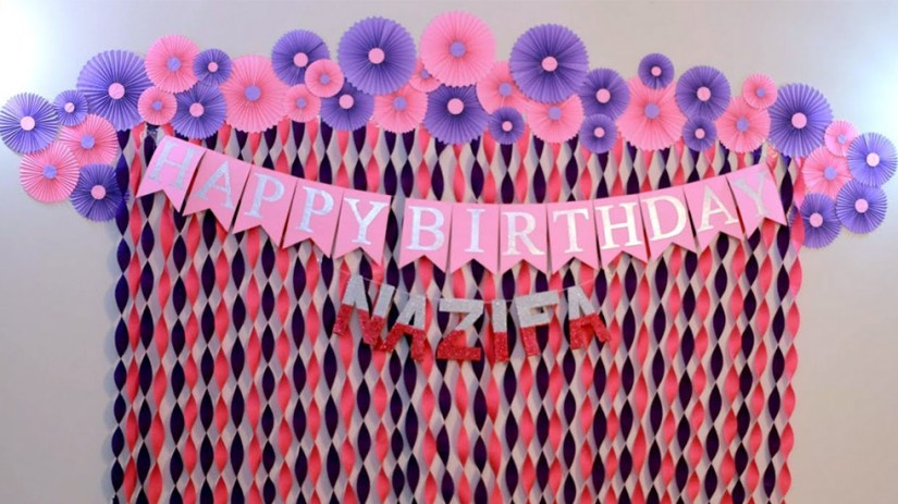 Birthday Party Wall Decoration