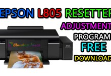 Epson L805 Resetter Free Download Adjustment Program