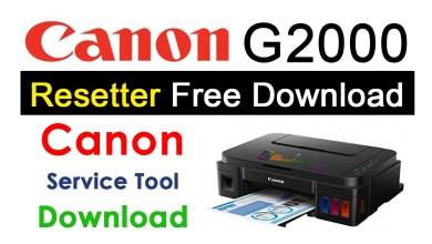 Photo of Canon G2000 Resetter Free Download Reset Utility