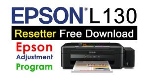 Epson L130 Resetter Adjustment Program Free Download