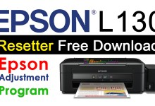 Epson L130 Resetter Adjustment Program Free Download