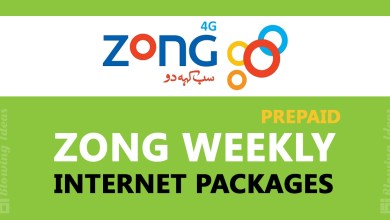 Zong Weekly Internet Packages
