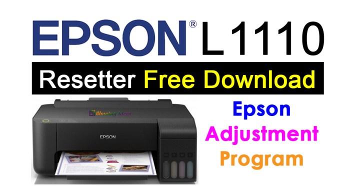 Epson L1110 Resetter Adjustment Program