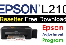 Epson L210 Resetter Adjustment Program Free Download