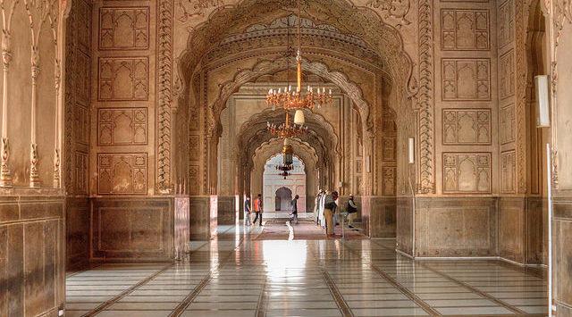 Interior Design of Badshahi Mosque
