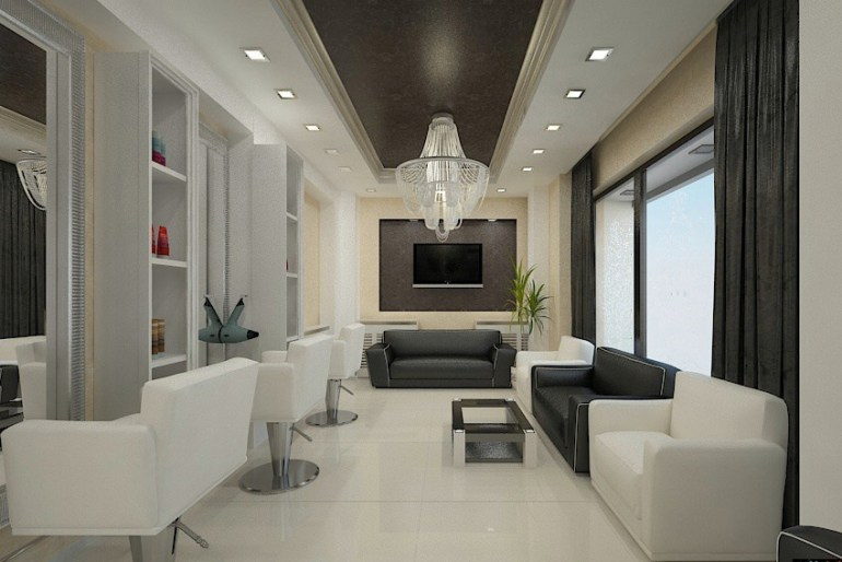 Elegant Salon Interior Design