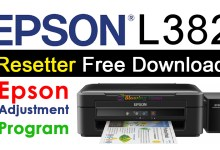 Photo of Epson L382 Resetter Adjustment Program Free Download