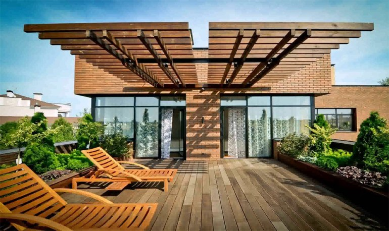 House with Roof Deck Terrace