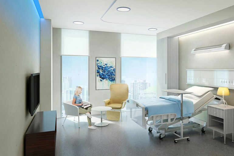 Single Bedroom Hospital Interior