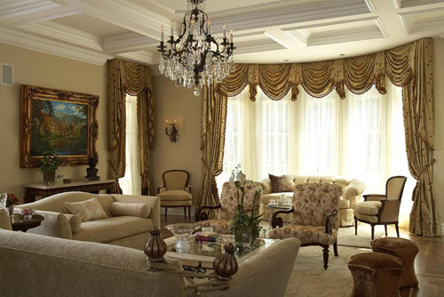 Beautiful Curtain Styles For Bay Windows