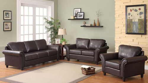Brown Leather Sofa Design