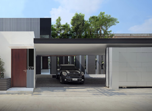 Contemporary Car Porch
