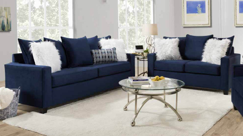 Indigo Blue Sofa Design