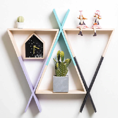 Kids Room Wall Hanging Rack Design